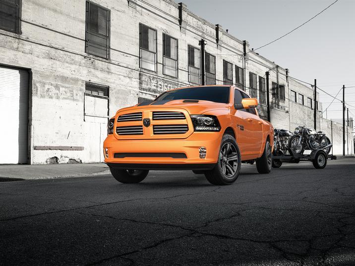 2017 Ram 1500 Sport Exterior Front Orange