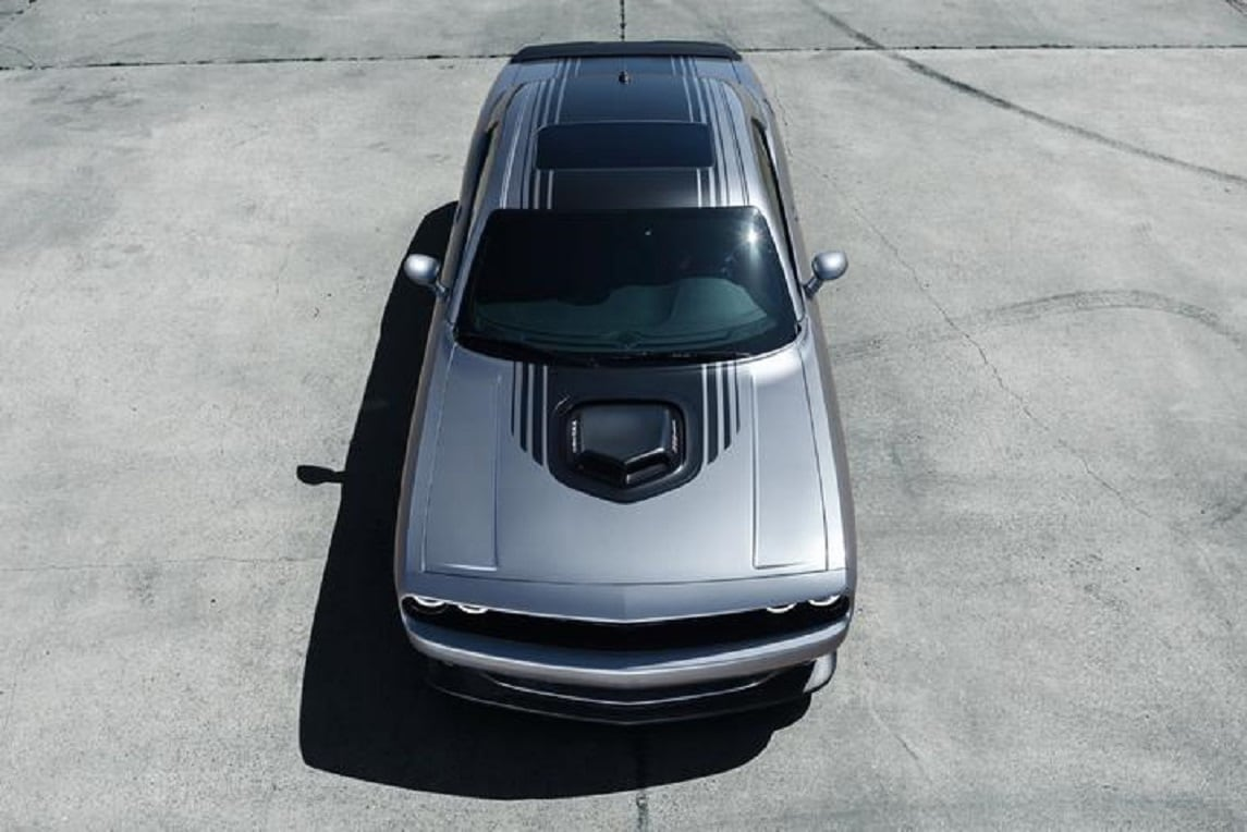 2019 Dodge Challenger Silver Exterior Top View Picture