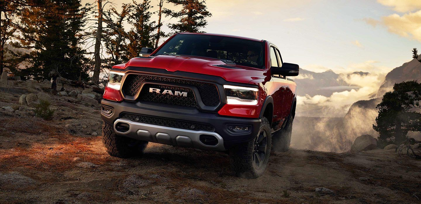 2019 Ram 1500 Rebel Red Front Driving Exterior