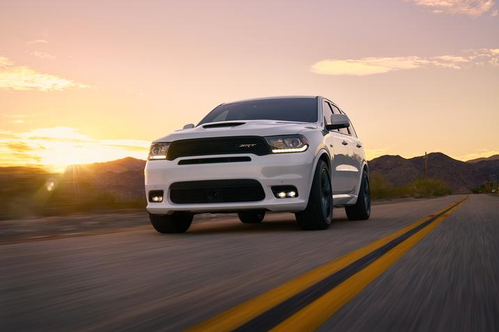 2018 Dodge Durango SRT White Driving Exterior