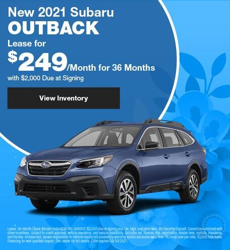 New 2021 Subaru Outback - April