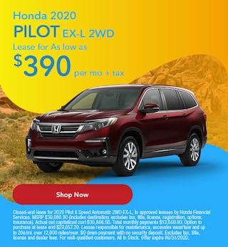 2020 Honda Pilot August Offer