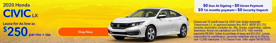 2020 Honda Civic September Offer