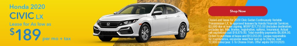 2020 Honda Civic August Offer