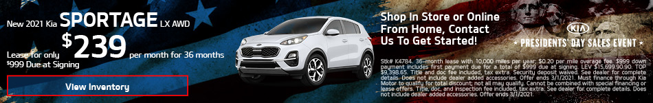 New 2021 Kia Sportage LX AWD - Feb update