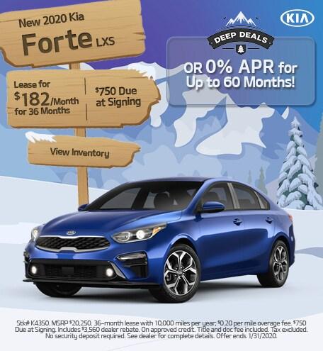 New 2020 Kia Forte - January