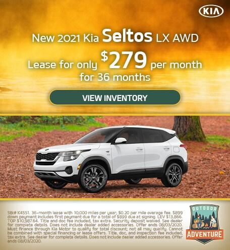 New 2021 Kia Seltos LX AWD - July