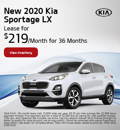 New 2020 Kia Sportage - April