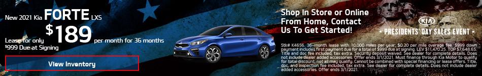 New 2021 Kia Forte LXS - Feb update