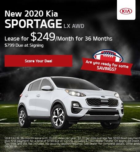New 2020 Kia Sportage - September