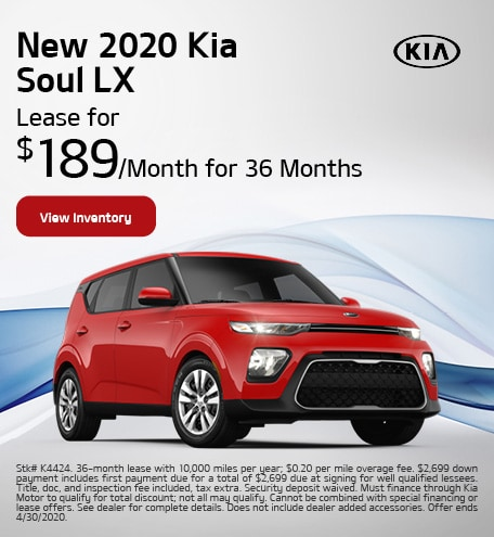 New 2020 Kia Soul - April