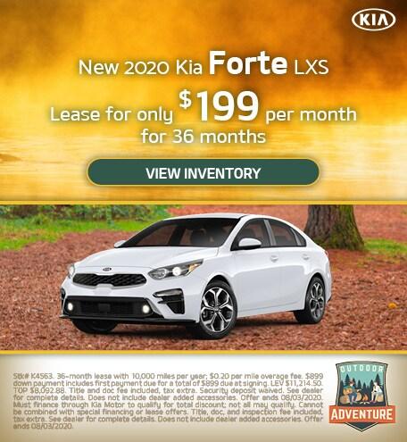 New 2020 Kia Forte LXS - July