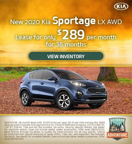 New 2020 Kia Sportage LX AWD - July