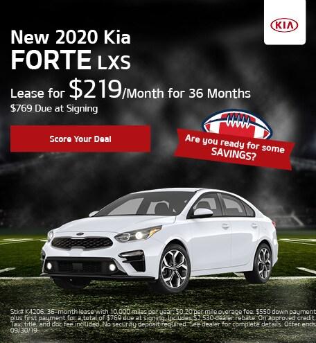 New 2020 Kia Forte - September