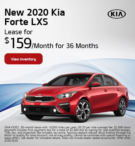 New 2020 Kia Forte - April