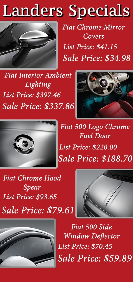 Save Money with Car Parts Specials | Landers FIAT | Lake View