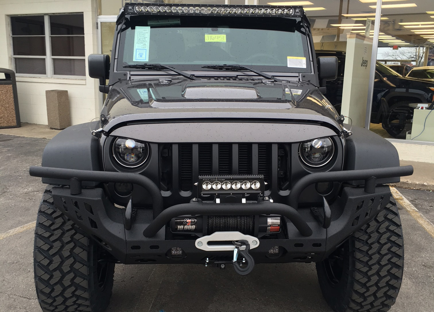 all-new black 2018 jeep wrangler