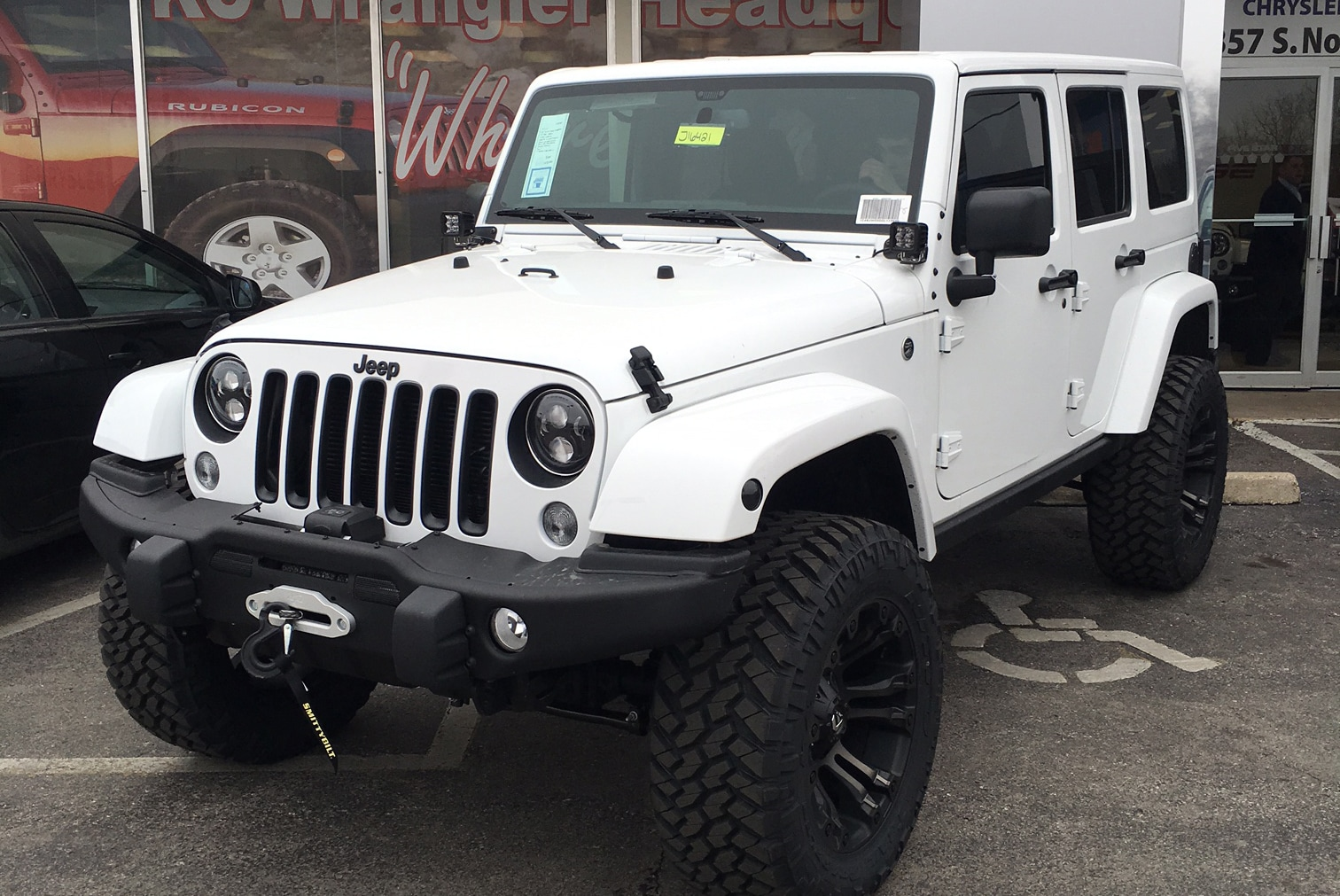 all-new white four-door jeep wrangler