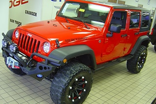 red jeep wrangler in belton missouri