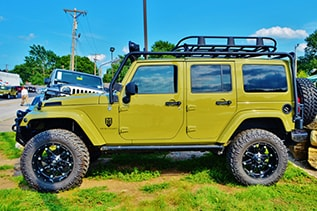 green hard top jeep wrangler in belton, mo