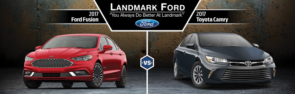 2017 Ford Fusion Vs. 2017 Toyota Camry In Springfield, IL