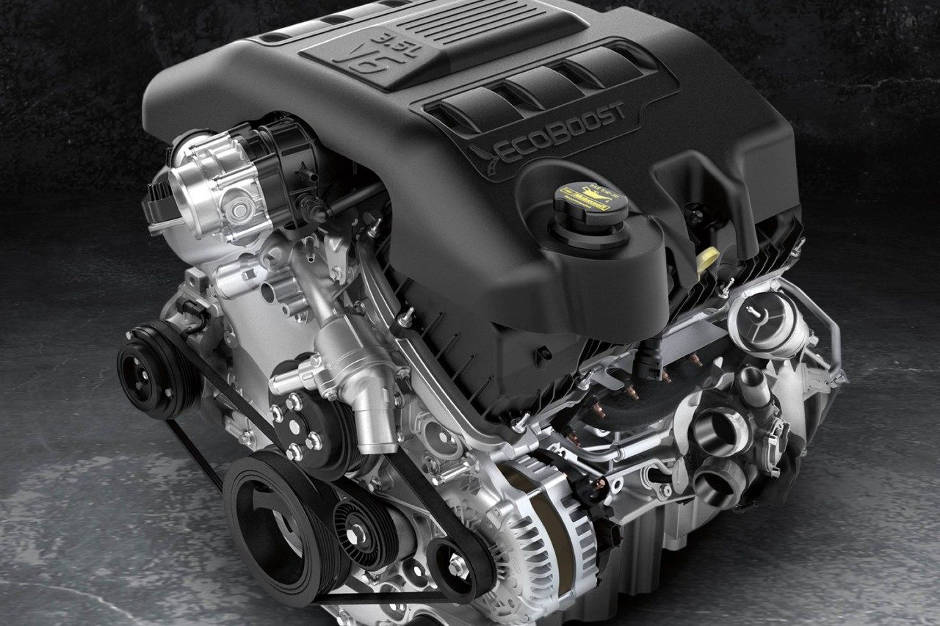 A V6 Ford EcoBoost Engine