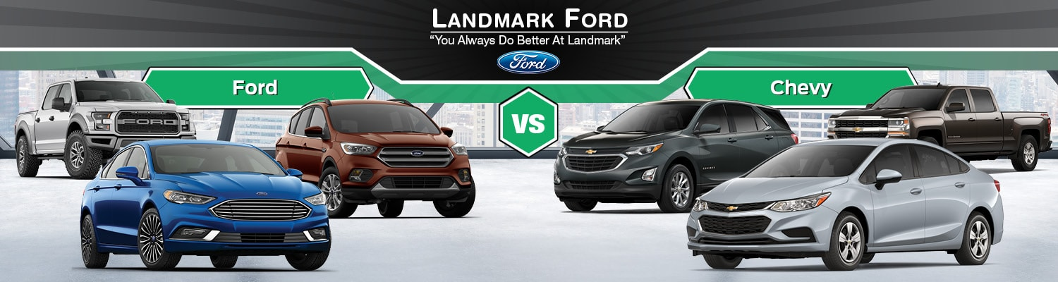 Build Your Own Custom Ford Vehicle Damerow Ford >> Ford Vs Chevy Cars Trucks Suvs In Springfield Il Landmark Ford
