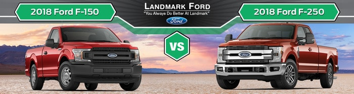 2018 ford f 150 vs 2018 ford f 250 in springfield il