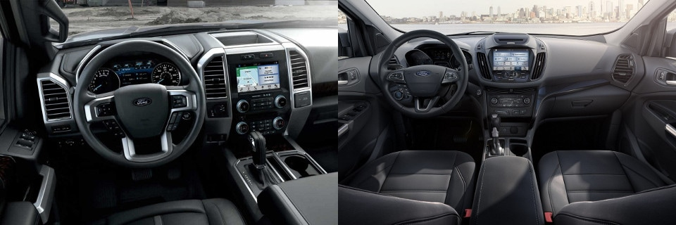 Interiors of the Ford F-150 King Ranch and the Ford Explorer