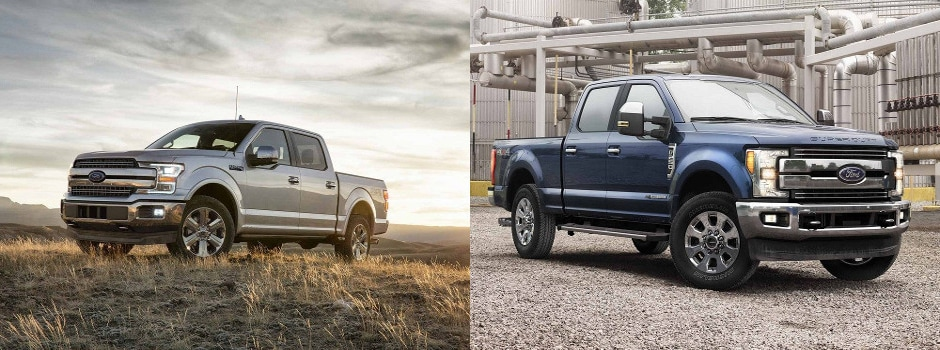 2018 ford f 150 vs 2017 ford f 250 comparison exterior in springfield