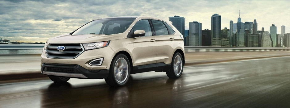 Ford Edge Driving On A Cloudy Day