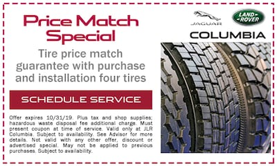 Tire Price Match Guarantee with Purchase and Installation of Four Tires