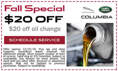 Fall Special $20 off Oil Change