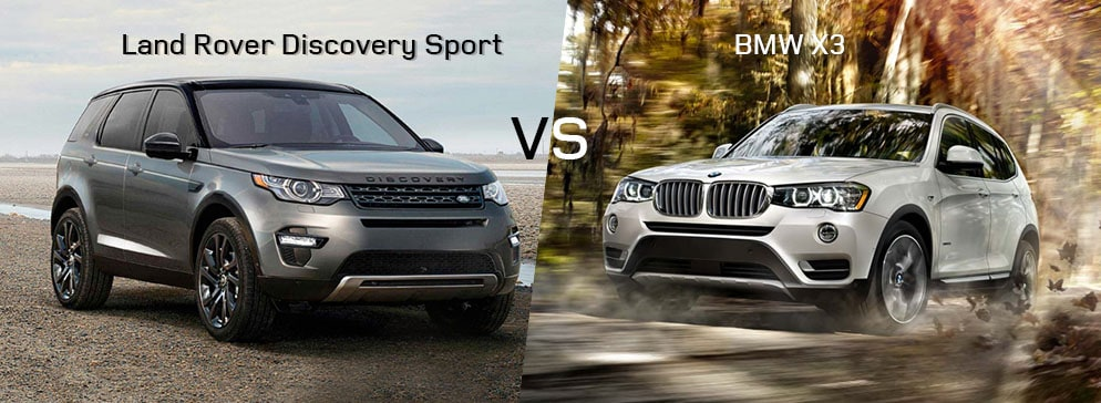 Land Rover Discovery Sport VS BMW X3 SUV