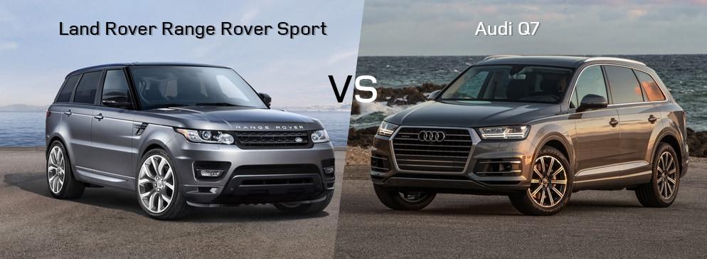 land rover range rover sport vs audi q7 land rover greenville. Black Bedroom Furniture Sets. Home Design Ideas