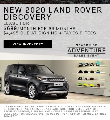 Lease: 2020 Land Rover Discovery HSE $639 per month for 36 months at $59,700 MSRP*