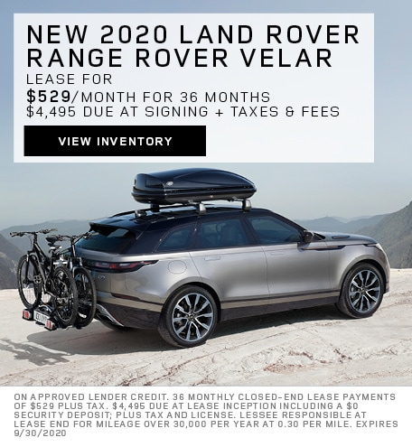 Lease: 2020 Land Rover Range Rover Velar S $529 per month for 36 months at $56,300 MSRP*