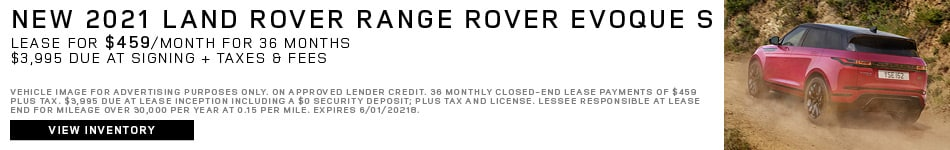 New 2021 Land Rover Range Rover Evoque