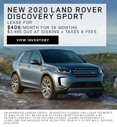 Lease: 2020 Land Rover Discovery Sport S $409 per month for 36 months at $41,500 MSRP*
