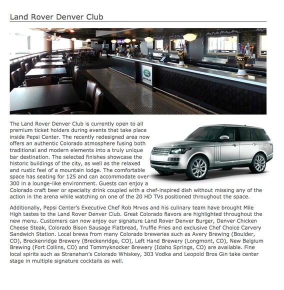 Land Rover Denver Club