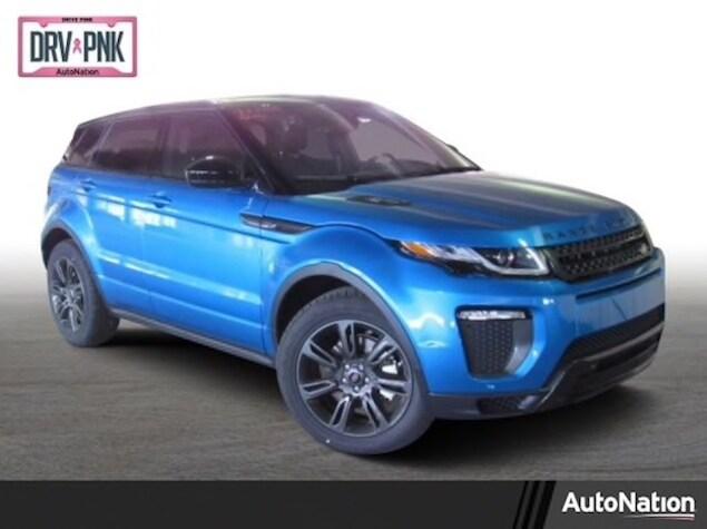 2019 Range Rover Evoque in metallic blue