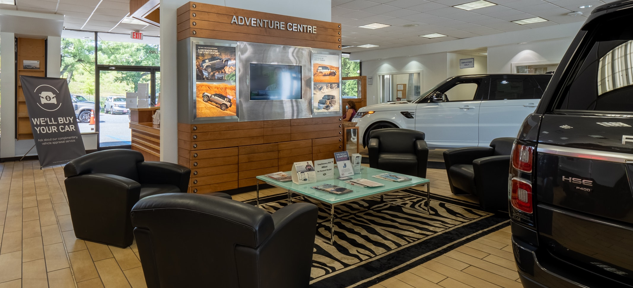 interior view of Land Rover Mt. Kisco