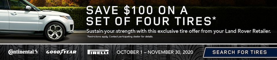 Save $100 On A Set Of Four Tires