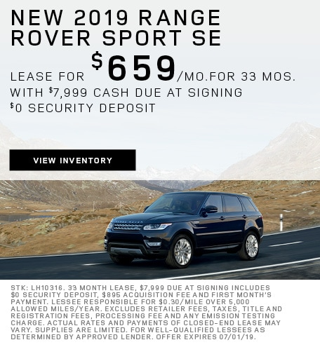 New 2019 Range Rover Sport SE
