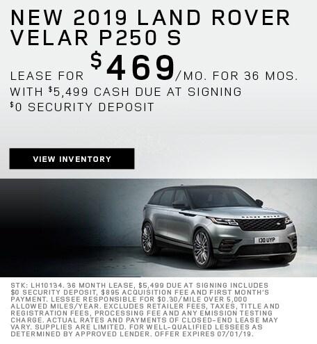 New 2019 Land Rover Velar P250 S