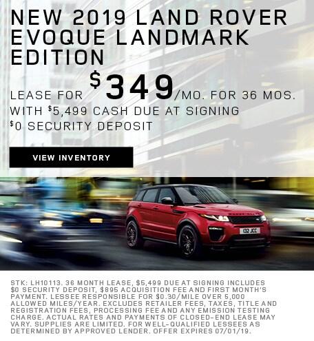 New 2019 Land Rover Evoque Landmark Edition