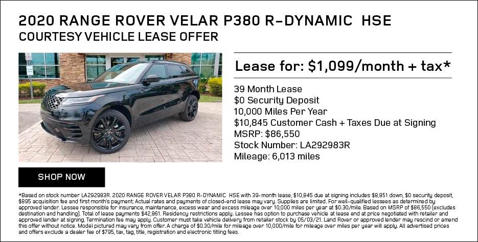 2020 Range Rover Velar P380 R-Dynamic HSE