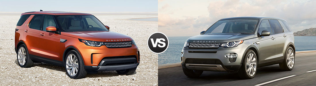Compare 2017 Land Rover Discovery vs Discovery Sport