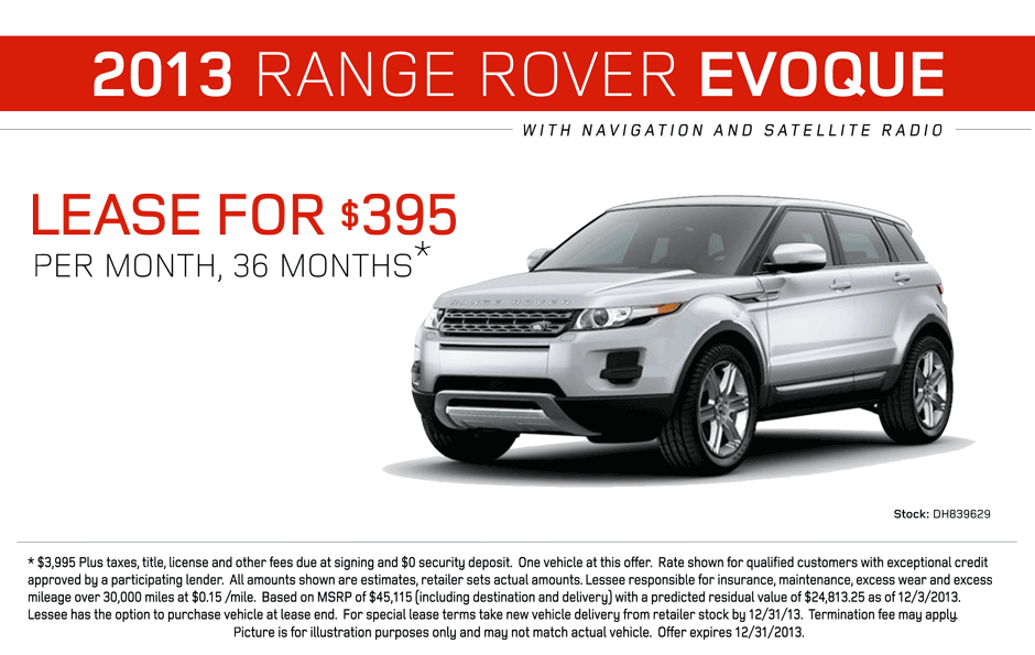 Evoque lease deals nj