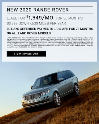 2020 Range Rover Lease Specials